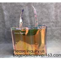 HOLOGRAPHIC NEON TOTE PVC BAG,VINYL SHOPPING SHOPPER,TOILETRY BIKINI SWIMWEAR BEACHWEAR WOMAN BAG Manufactures