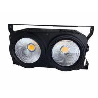 Buy cheap 2x100W LED COB Blinder DMX Stage Studio Light 2 eyes COB audience matrix light from wholesalers