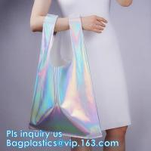 HOLOGRAPHIC NEON TOTE PVC BAG,VINYL SHOPPING SHOPPER,TOILETRY BIKINI SWIMWEAR BEACHWEAR WOMAN BAG Manufactures
