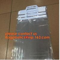 HANGER HOOK BAGS,GARMENT BOTTON CLOSURE BAGS, EVA FROST DRAWSTRING BAGS, VINYL HANGER HOOK BAG Manufactures