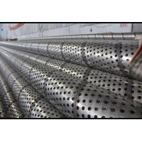 Welded Seam Perforated Stainless Tube , Round Hole Perforated Filter Tube Manufactures