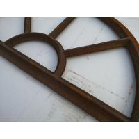 Quality Old Cast Iron Antique Window Frames For Lighting French Style H36xW67CM for sale