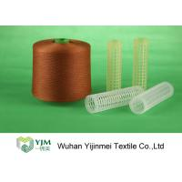 Dyed Plastic Core Polyester Yarn , Polyester Sewing Yarn Double Ply Manufactures