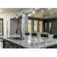 "Natural Marble Polished Premade Kitchen Countertops 96""X26"" With Cabinet Manufactures"