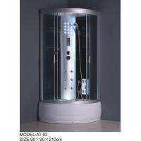 1200 x 800 shower enclosures quadrant Aluminium Rails / Profiles small shower cubicle Manufactures