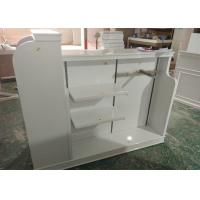 Quality High Gloss White MDF Clothing Store Shelves / Retail Store Fixtures For Children for sale