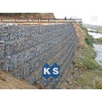 China Defense Gabion Retaining Wall Hexagonal Wire Mesh with Galvanized Wire 2.7MM on sale