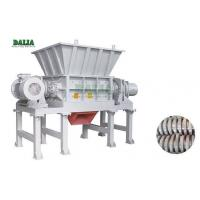 China PLC Control Double Shaft Plastic Shredder Machine With Hard Knife For Waste Films on sale