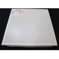 Zero Clearance Commercial Ceiling Tiles / Perforated Acoustic Panel Tegular Manufactures