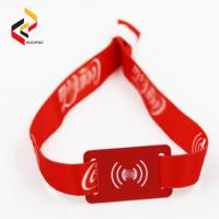 Tourist Attractions Tourist Tickets Consumption NFC NTAG216 RFID Fabric Wristband Payment Wristband Manufactures