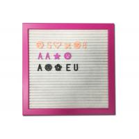 Pink Frame Felt Letter Board Customized Size With DIY Changeable Letters Manufactures
