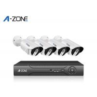 3MP AHD Cctv Kit Metal Bullet , 720P 4 Channel Dvr Camera Kit IP67 White Black Manufactures