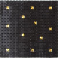 Waterproof Black Self Adhesive Mosaic Wall Tiles , Peel And Stick Metal Tile Backsplash Manufactures