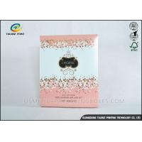 Luxury Pink Cosmetic Packaging Boxes For Mask Product / Cosmetic Manufactures