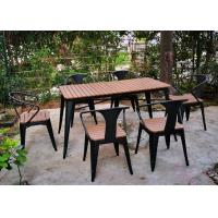 Simple Modern Solid Wooden Outdoor Furniture Balcony Table Chair Set For Leisure Cafe Bar Manufactures