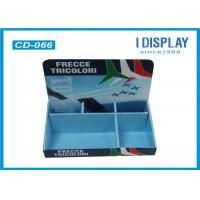 2 Tier Cardboard Counter Display , Retail Counter Display Rack  For LED Lights Manufactures