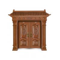 Villa Chinese style wood like meatal security door safe gate W1500*H560-850mm Manufactures