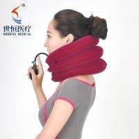 China Red/purple/blue/grey color cervical neck collar inflatable neck collar soft on sale
