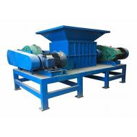 Blue Color Double Shaft Shredder Machine For Engineering Plastics FCL Control Manufactures