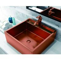 China Rose Gold Black Sink For Bathroom Nano Oil Resistance Stainless Steel on sale