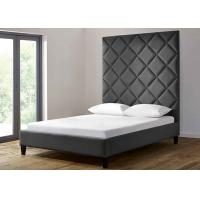 China Custom Hotel Platform Bed , Twin Size Platform Bed Linen Fabric on sale