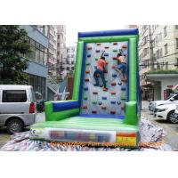 Customized Inflatable Sport Games , Rocky Mountain Deluxe Inflatable Climbing Wall Manufactures