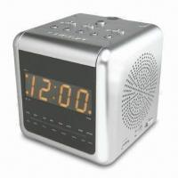Dual Alarm Projector Clock Radio with 0.9-inch Amber LED Display Manufactures