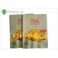 Matte Surface Laminated Foil Pouches Back Seal Potato Chips Packaging Manufactures