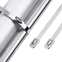 SUS 304 316 Ball Self Locking Stainless Steel Cable Ties Custom Length Available Manufactures