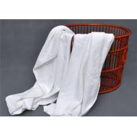 China Hotel Bath Towel And 100% Cotton With Spiral Plain White 32S on sale
