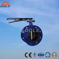 China Manual Soft Seal Flanged Butterfly Valve (GAD41X) on sale