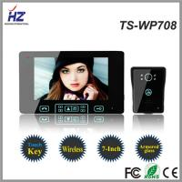 Quality 7 inch color video door phone with take and store photo function nightvision intercom system for sale
