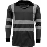 Reflective Strips Mens Hi Viz T Shirts Workwear , Dry Fit 2 Tone Guys Polo Shirts Manufactures