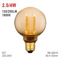 Buy cheap G80 Bulb, Deco Light, E27 LED Bulb, Fashionable Glass Bulb, 1800K Bulb from wholesalers