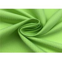 Comfortableful 100% P Breathable Outdoor Fabric , Green Water Resistant Fabric Manufactures