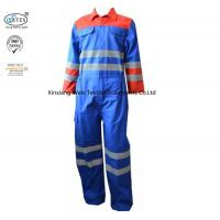 China Multi Color Royal Blue Fr Reflective Coveralls With Reflective Tape Industrial on sale