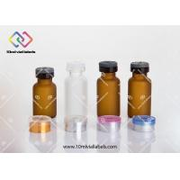 Pharmaceutical Injection Small Glass Vials With Screw Caps 5ml 10ml 20ml 30ml Manufactures