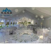 Stretch Heavy Duty Canopy Tent PVC Cover With Sandwich Wall And Cassette Wooden Floor Manufactures