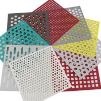 Buy cheap Plate Square Perforated Metal Sheet Etching Screen Stainless Steel Punching Hole from wholesalers