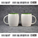 Beer barrel inside green ceramic beer mug custom advertising LOGO for your design Manufactures