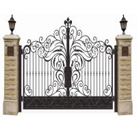 Double Entry Cast Iron Gates Powder Coat Wrought Iron Entry Gates Manufactures
