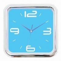 China Square Wall Clock, Super Silent Clock Movement, without Tick Tack Sound, CE Certified on sale