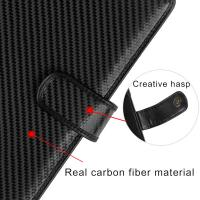 Christmas Gift A4 carbon fiber genuine leather notebook carbon fibre notebook Manufactures