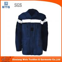 China Navy Blue Fire Retardant Shirts Fr Light Weight Flame Resistant Welding Shirts on sale