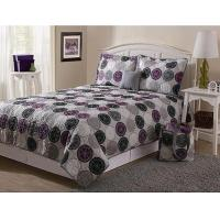 Square Patchwork Bedding Set Polyester / Cotton For Home With Plain Style Manufactures