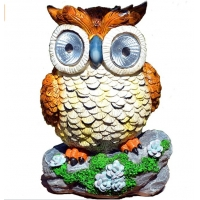 China Polyresin 8 Inches Owl Animal Shaped Solar Garden Lights on sale