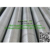 API K55 Steel Round Hole Perforated Screen Pipe Used In Petroleum Manufactures