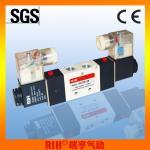 "RIH pneumatic 4V220 double coil Solenoid Pneumatic Valve 1/4"" CE"