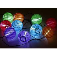 Decorative Solar Chinese Lantern String Lights For Wedding / Holiday Party Manufactures