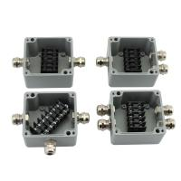Sealed Die-cast Aluminum Enclosure Case Project Junction Box 86*76*57mm with Terminal Blocks Manufactures
